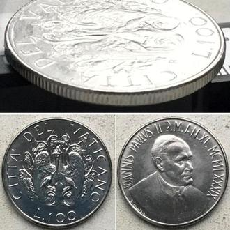 Ватикан 100 лир, 1989 (MCMLXXXIX)
