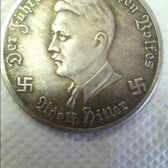 Продам монету 3 Рейха с Гитлером (копия) - 2