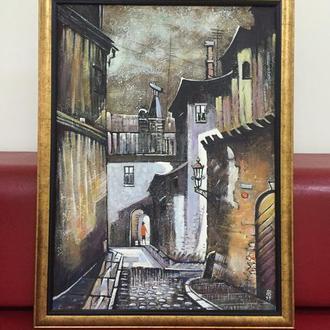 """Картина """"Дворик с аркой"""" заслуженного художника Украины Вдовиченко А.Е."""