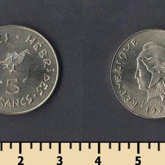 Новые Гебриды 5 франков 1979
