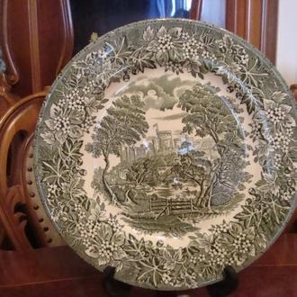 Антикварная коллекционная тарелка 24,5 см . Англия. Состояние! № 1061
