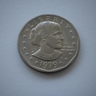 Америка монета США 1 долар 1979 рік 1 доллар 1979 год one dollar литера D нечаста монета у стані!