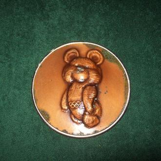 Плакетка панно Олимпийский мишка олимпиада 80 СССР