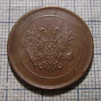 5 пенни 1917 г. Россия для Финляндии