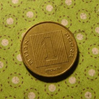 Израиль монета 1 агорот лодка !