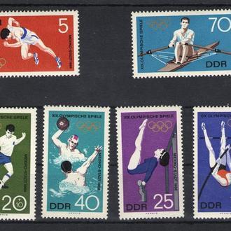 ГДР - олимпиада 1968 - Michel Nr. 1404-09 **