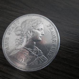 Талер Франкфурт 1865г.серебро.