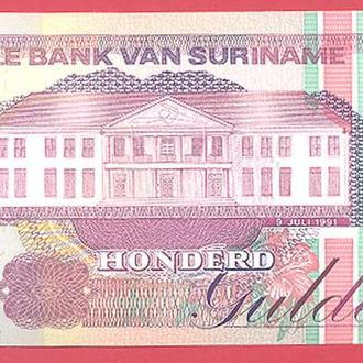 Боны Америка Суринам 100 гульденов 1991 г.