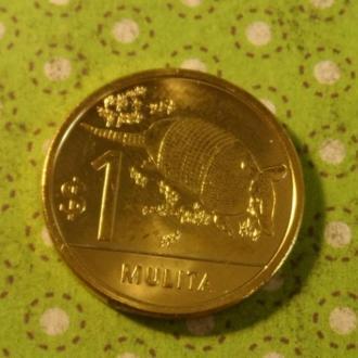 Уругвай 2012 год монета 1 песо фауна !