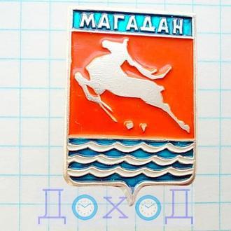Значок Магадан Россия герб №2