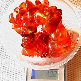 Прибалтийский янтарь. Форма бусин - ''кукурузка''. Длина 58 см. Вес 49,2 грамм.