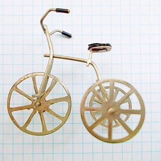 №134 Мини модель старинного велосипеда ручная работа Германия