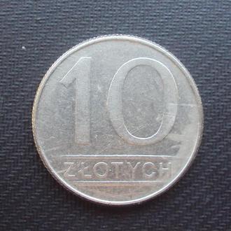 Польша 10 злотых 1988г.