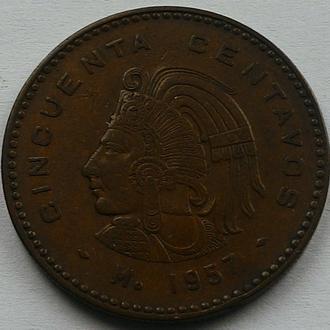 Мексика 50 сентаво 1957 год