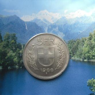 Швейцария 5 франков 1966 года