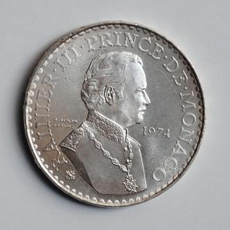 Монако 50 франков 1974 г., UNC, '25 лет правления Ренье III'