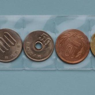 Япония, современные монеты 6 шт, в запайке