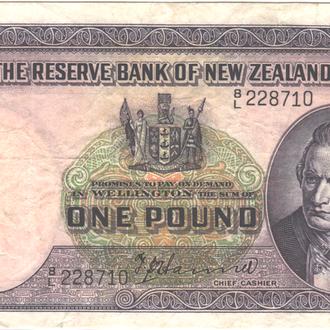 Новая Зеландия 1 фунт 1940-1955г. в VF