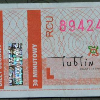 Талон Билет Польша #5