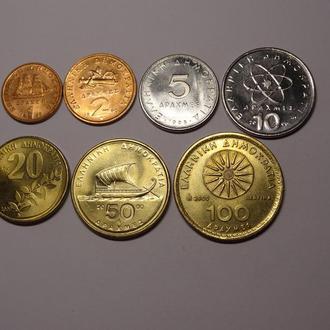 Греция набор монет UNC 7шт.