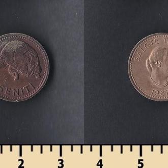 Тонга 1 сенити 1967