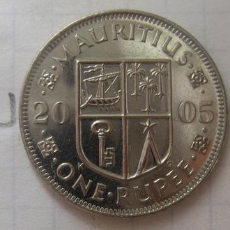 МАВРИКИЙ 1 рупия 2005 года.