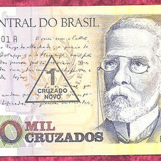 Боны Америка Бразилия 1000 крузадо 1989 г.