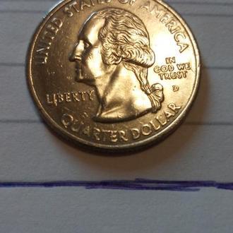 25 центов сша 2001р.