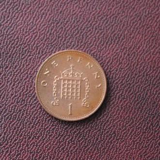 Великобритания. 1 пенни. 1997г.