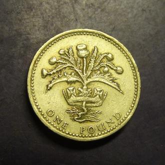 1 фунт 1989 Британія Чортополох