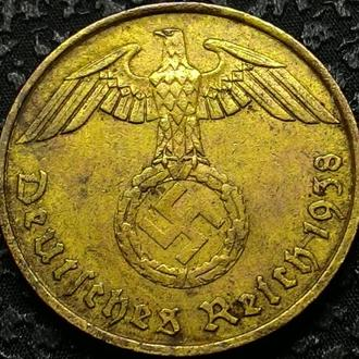 Рейх 5 пфеннигов 1938 год СВАСТИКА!!