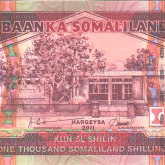 Сомалиленд 1000 шиллингов 2011г. в UNC из пачки