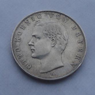 1910 г - 3 марки Германия,Бавария,Отто,серебро
