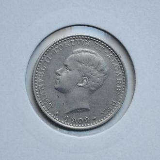 Португалия 100 рейс 1909 г., AU, 'Король Мануэл II (1908-1910)'