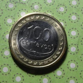Тимор 2012 год монета 100 сентаво биметалл !