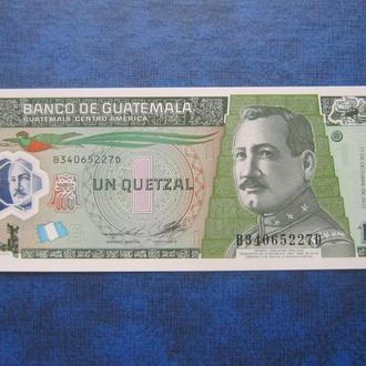 банкнота 1 кетцаль Гватемала 2012 пластик UNC пресс