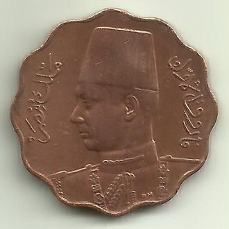 Египет Фарук 5 миллим 1943 XF