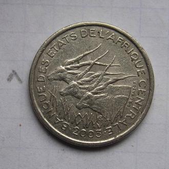 ЦЕНТРАЛЬНАЯ АФРИКА 50 франков 2003 года.