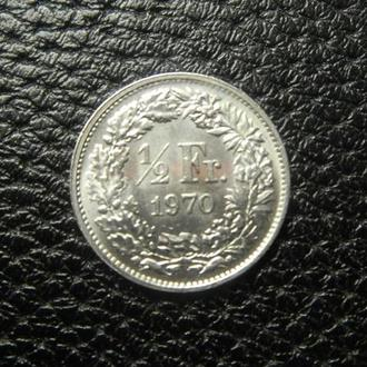 1/2 франка 1970 Швейцарія