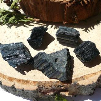 Черный Турмалин Шерл 29,3 грамм 5 шт