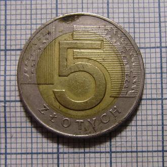 Польша, 5 злотых 1994