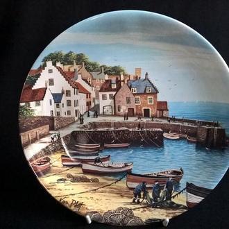 Тарелка коллекционная Poole Potteri England *CRAIL* №1 (крепление)