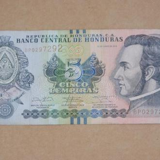 5 лемпира 2014 г Гондурас