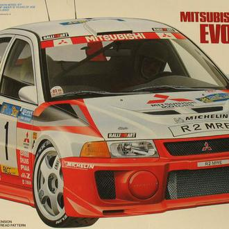 Сборная модель автомобиля Mitsubishi Lancer Evo V  WRC  1:24 Tamiya