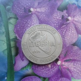 Либерия 1доллар 1976г
