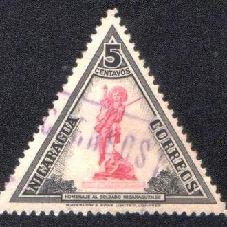 Никарагуа (1947) Виды страны. Памятник солдату
