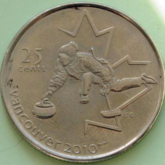 Канада 25 центов 2007, Юбилейные -Кёрлинг-