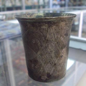 рюмка стакан иудаика серебро проба 12 лот 73,31 г