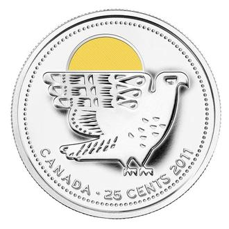 Shantaaal, Канада 25 центов 2011, Птица ЦВ.ЭМАЛЬ