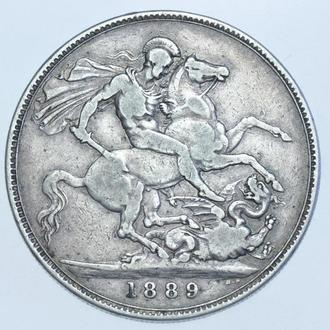 1 Крона 1889 Великобритания  VF (бесплатная доставка из Польши)